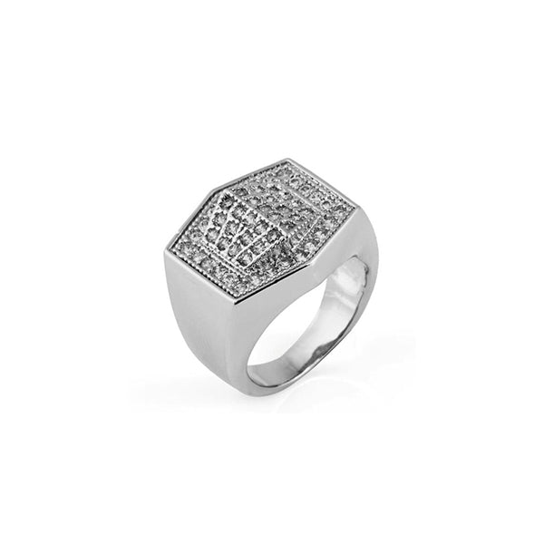18K White Gold Veluxo Ring