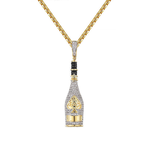 18K Gold Ace Of Spades Pendant