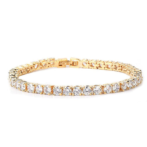 24K Gold Plated 4mm Tennis Bracelet