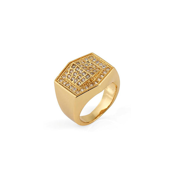 18K Gold Diamond Veluxo Ring