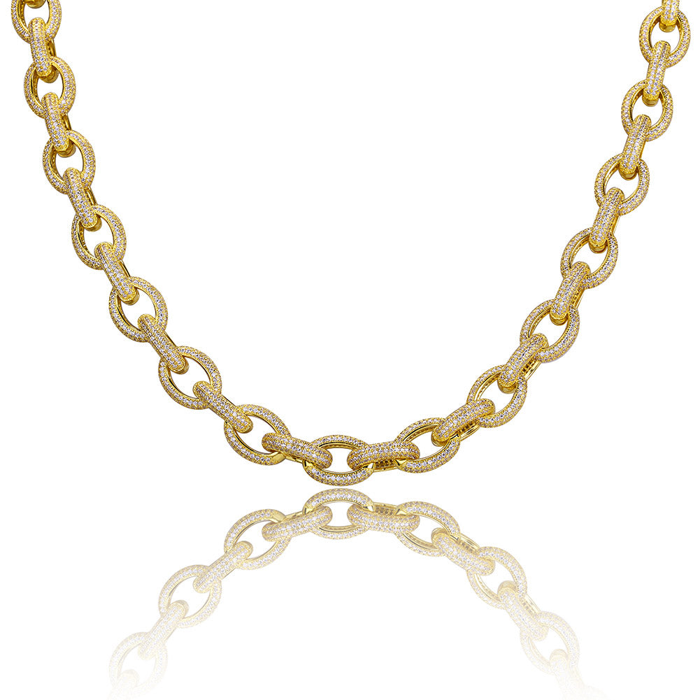 Raw Iced Necklace 18K Gold