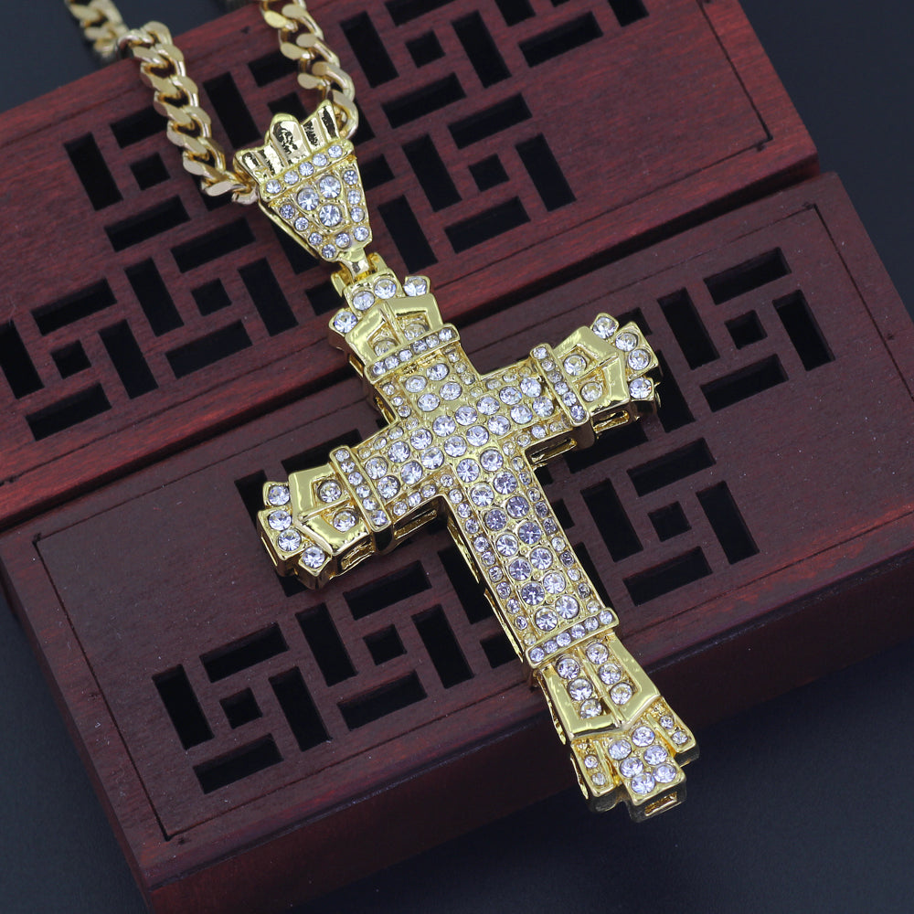 Jesus Cross Iced Out Necklace