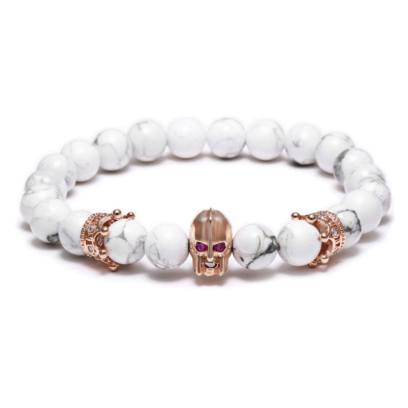 18K Rose Gold Warrior Beaded Bracelet