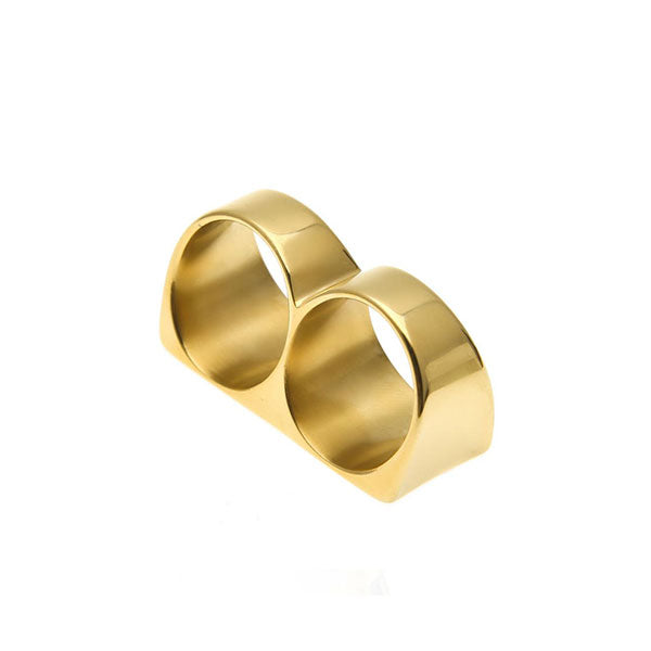 18K Gold Double Finger Ring