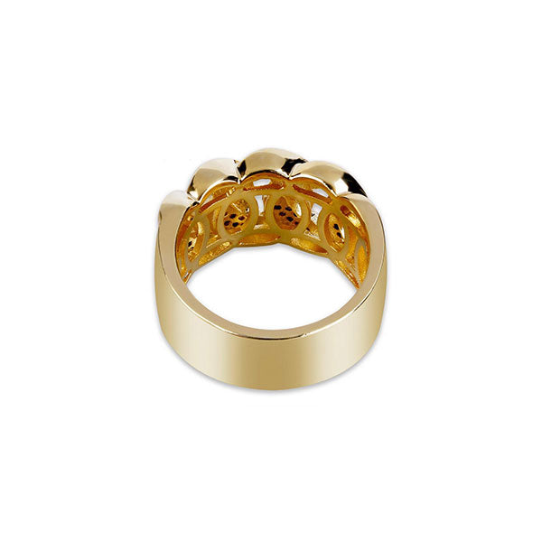 18K Gold Diamond Cuban Ring