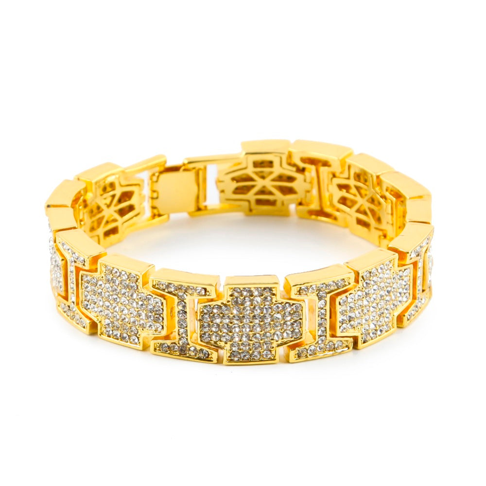 18K Gold Diamond King Bracelet