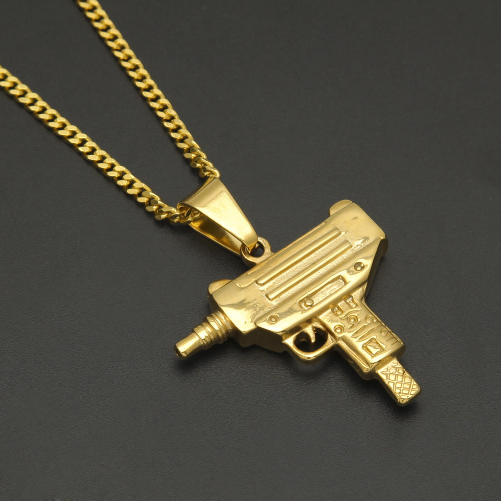 18K Gold Uzi Necklace