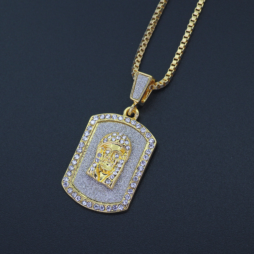 Jesus Iced Out Necklace
