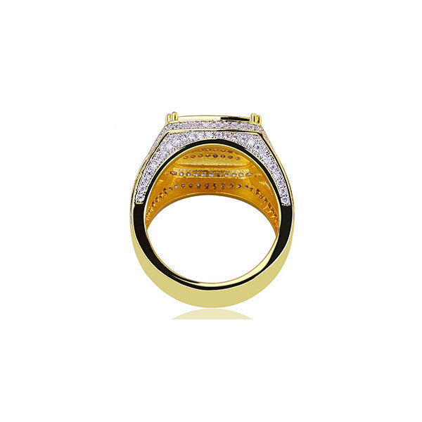 18K Gold Diamond Marque Ring