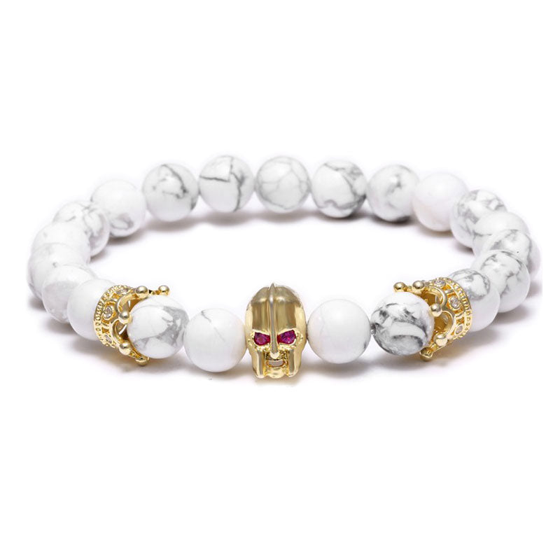 18K Gold Warrior Beaded Bracelet