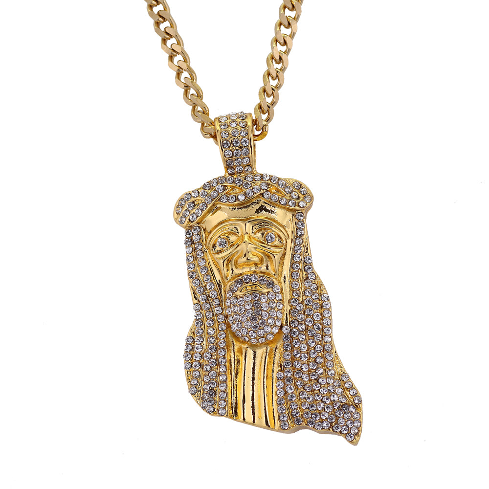 Jesus Piece Iced Out Necklace