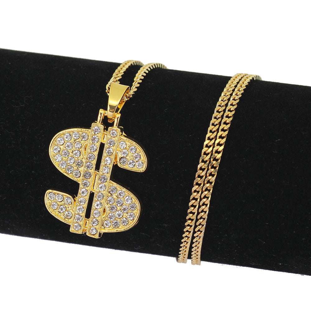 Dollar Sign Iced out Necklace