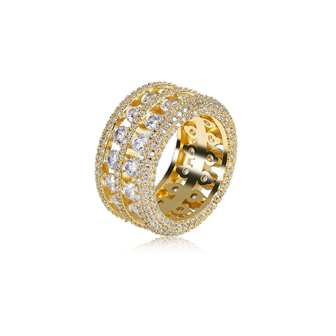18K Gold Diamond Sapphero Ring
