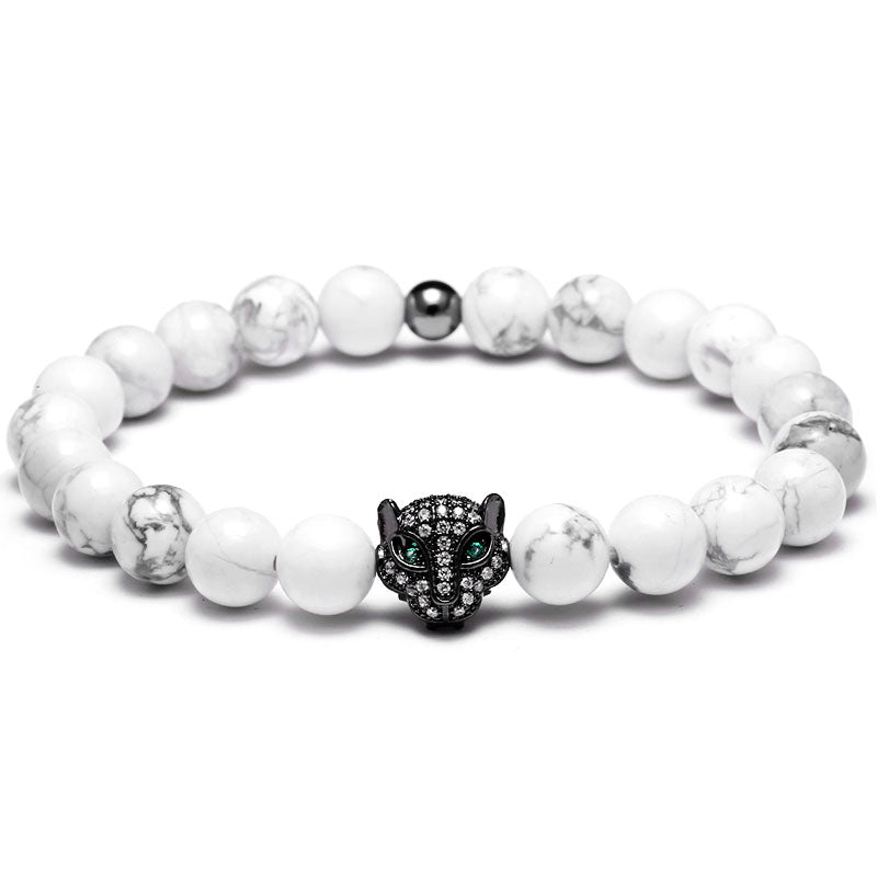 Black Diamond Tiger Beaded Bracelet