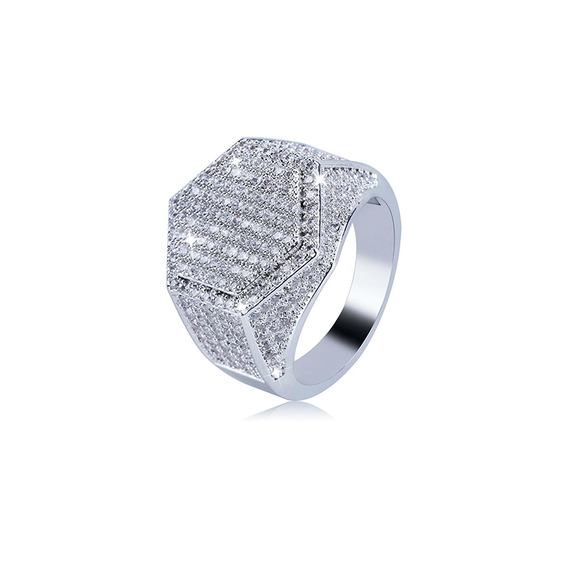 18K White Gold Diamond Lussoro Ring
