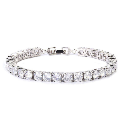 24K White Gold 5mm Tennis Bracelet