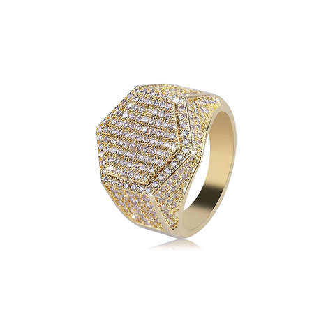 18K Gold Diamond Lussoro Ring