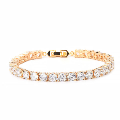 24K Gold 5mm Tennis Bracelet
