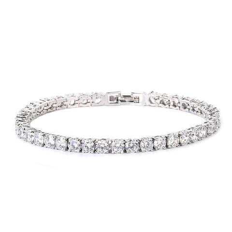 24K White Gold 4mm Tennis Bracelet