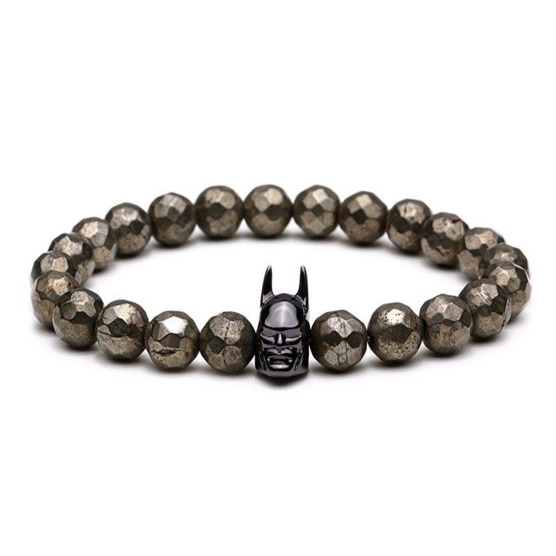 Black Batman Beaded Bracelet