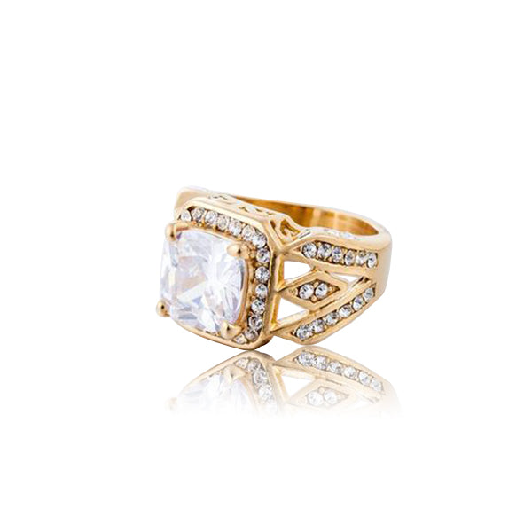 18K Diamond White Gem Zarner Ring