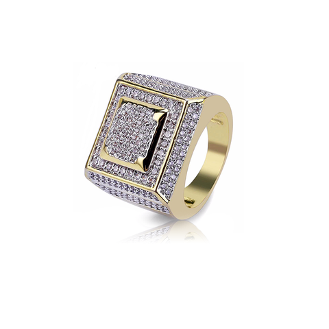 18K Gold Diamond Trovec Ring