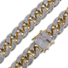 24K Gold Diamond Miami Cuban Bracelet
