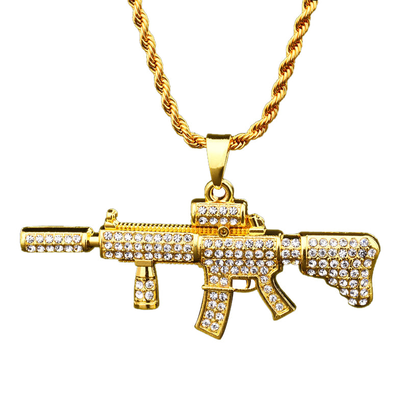 18K Gold Diamonds M416 Pendant