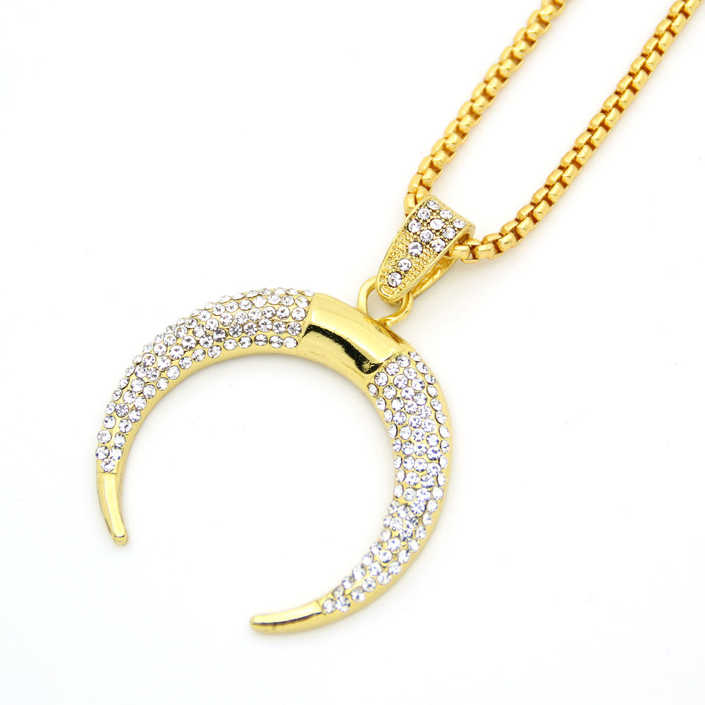 Horn Iced Out Necklace