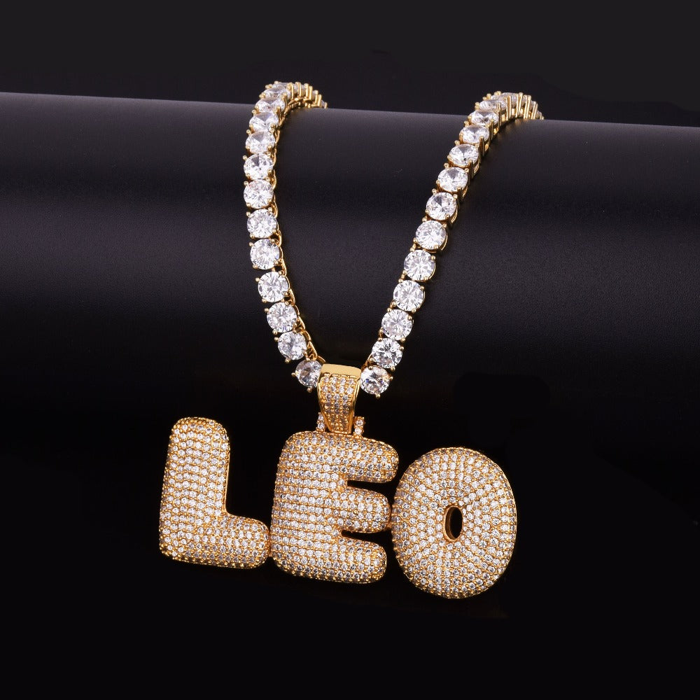 Custom Bubble Letters Name Chain