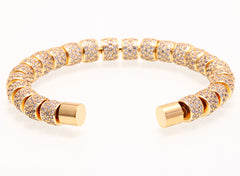18K Gold Diamond Cuff Bracelet