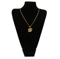 18K Gold Keep it 100 Pendant
