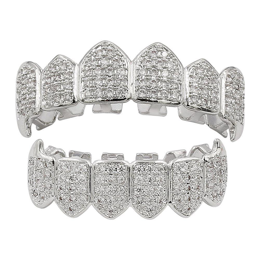 Grillz Iced Out Silver