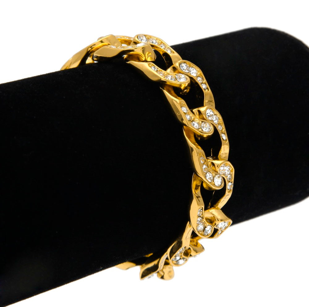 Bracelet Gold Iced Out