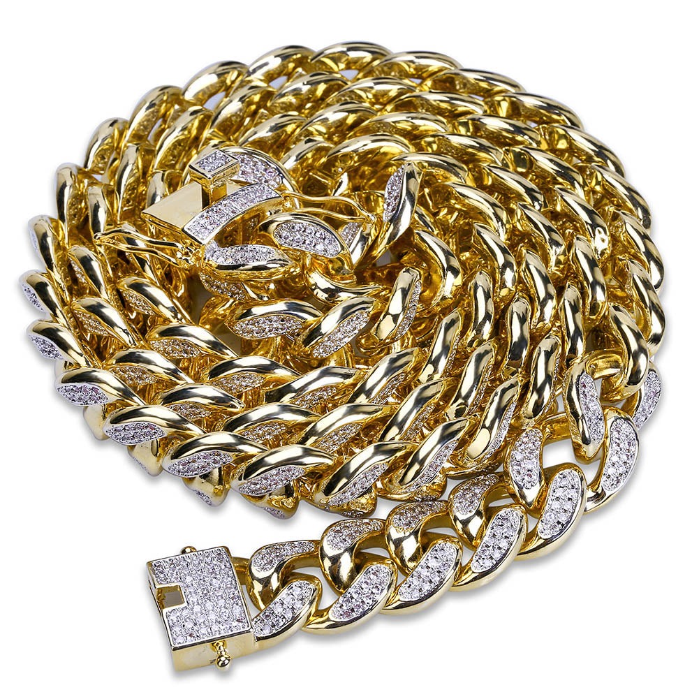 Diamond Cuban Link Chain 18K Gold