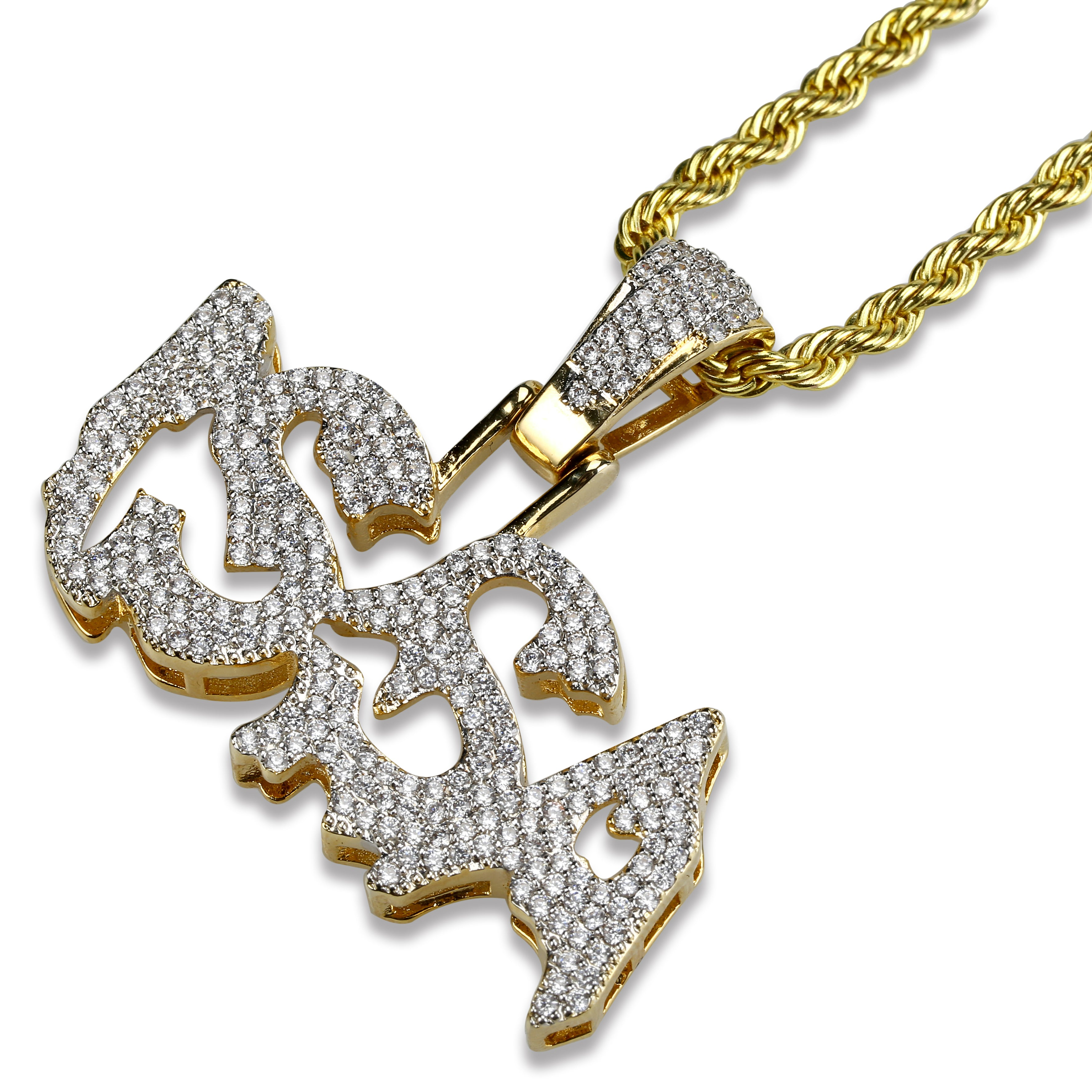 18K Gold Diamonds ISSA Pendant