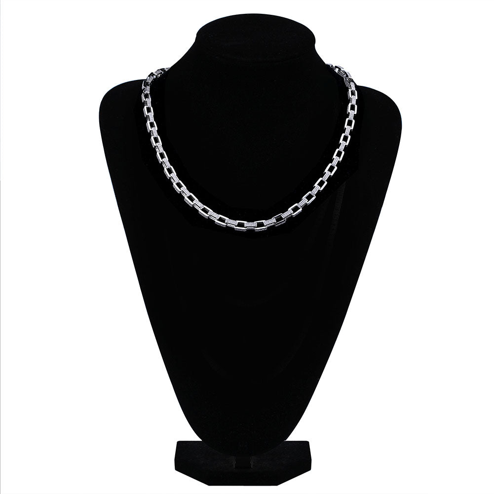 Goliath Iced Necklace 14K White Gold