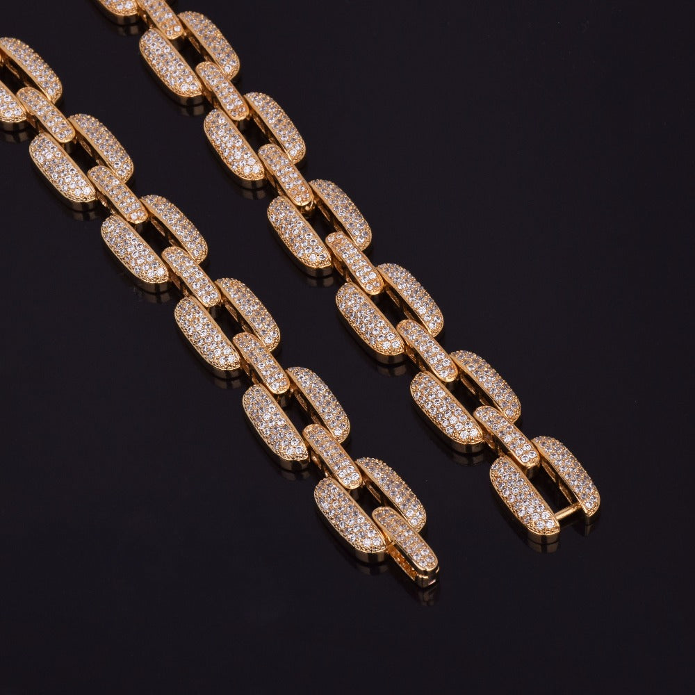24K Gold Diamond Miami Bracelet