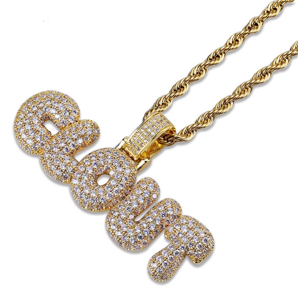 18k Gold Diamond Clout Pendant