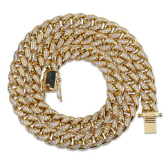 Diamond Cuban Link (10mm) 18K Gold