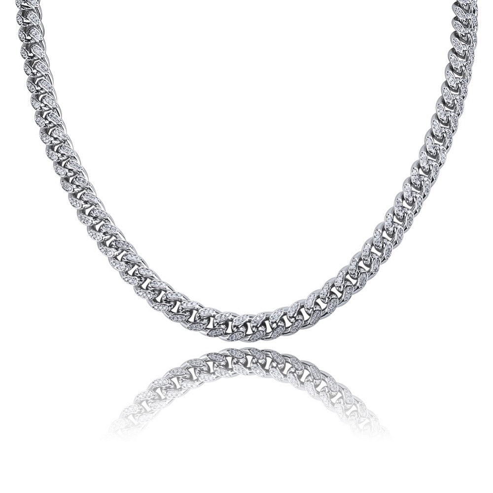 Diamond Cuban Link (10mm) 14K White Gold