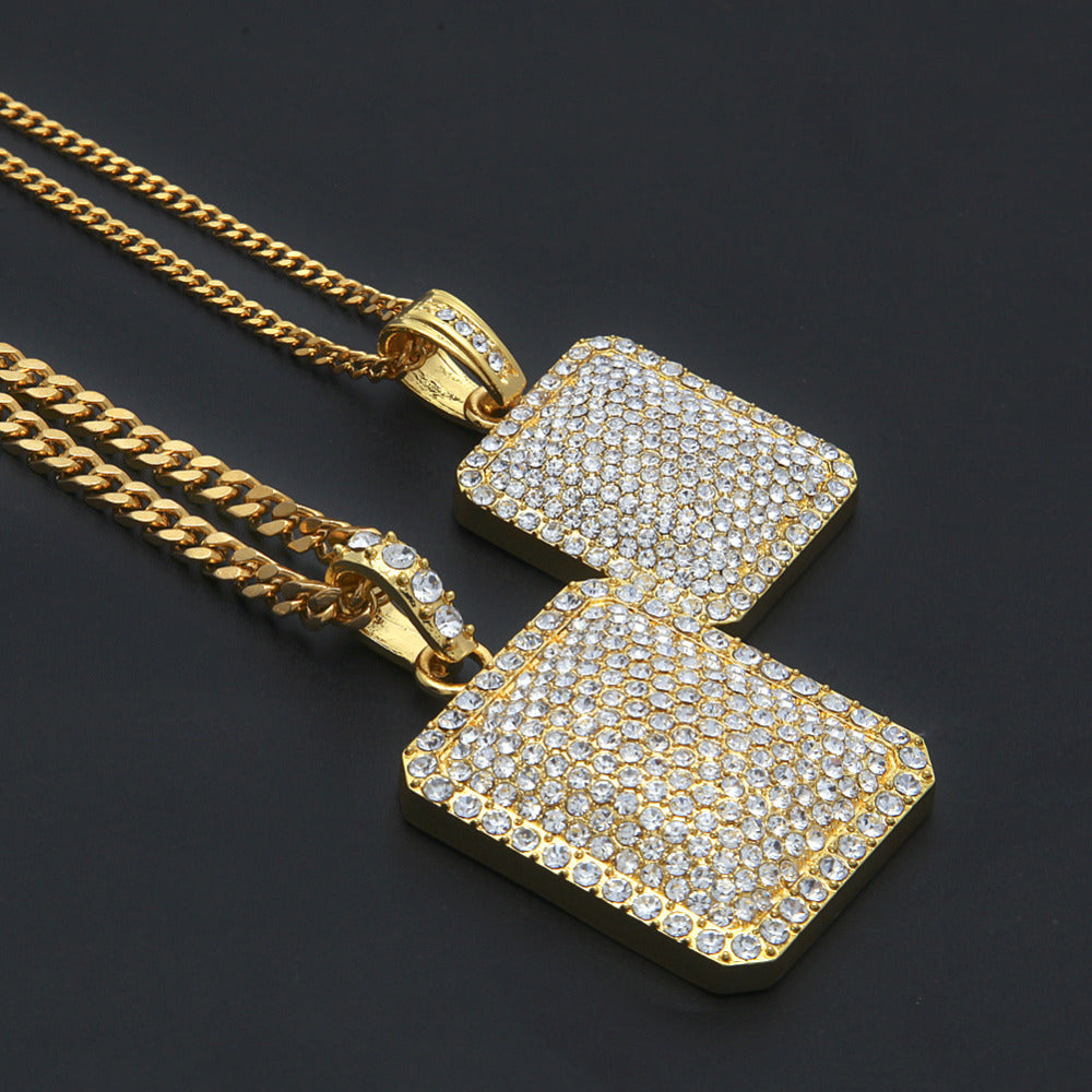 Iced Out Tag Necklace