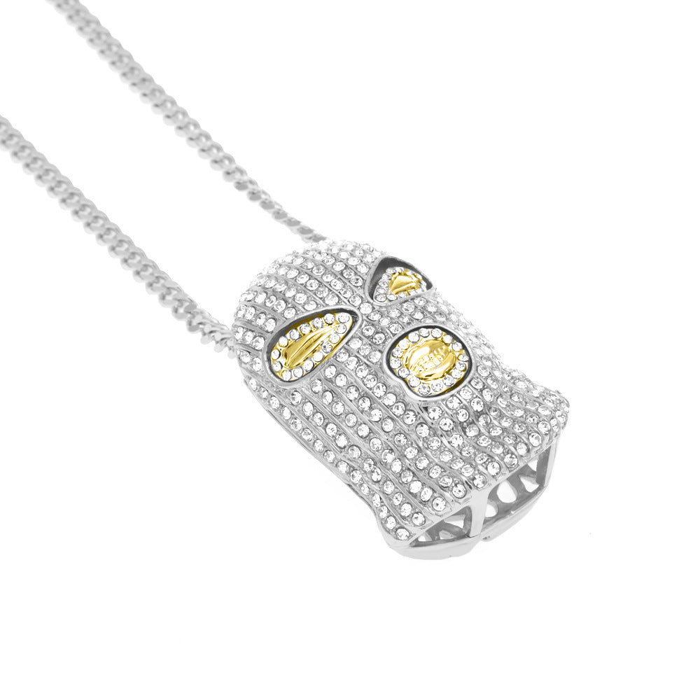 14K White Gold Thief Pendant