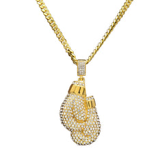 18K Gold Boxing Gloves Pendant