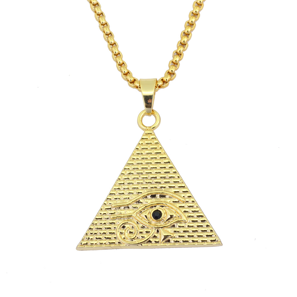 Pyramid Eye Necklace