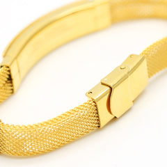 Bracelet Gold Fully / 18K Gold Plated / 21.5 CM
