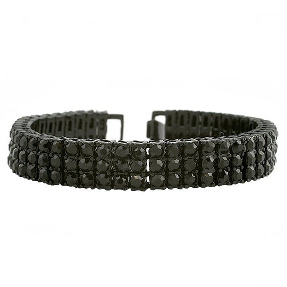 Iced out Bracelet black