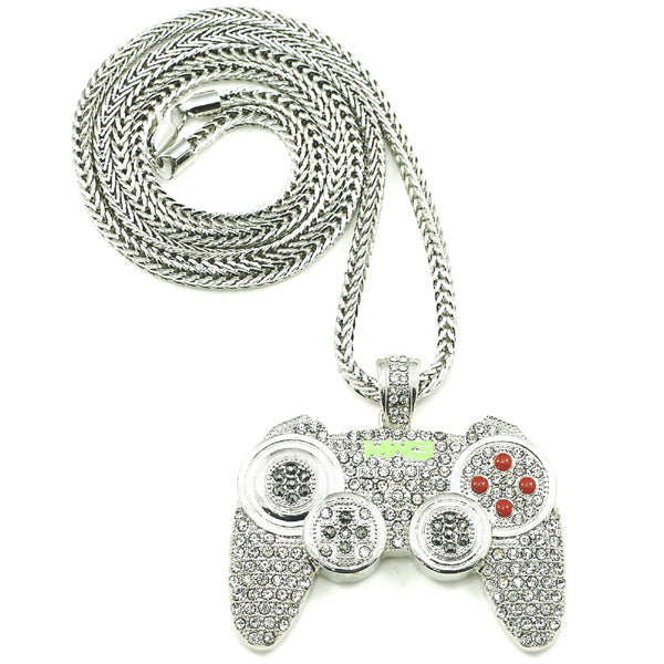 PS3 Controller Iced Out Necklace
