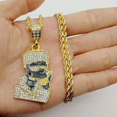 18K Gold Diamonds Bart Simpson Pendant