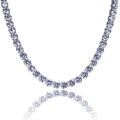 14K White Gold 3-6mm Tennis Chain